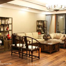 复古混搭风格三居室客厅设计