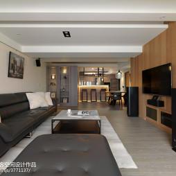现代风格二居室客厅布置