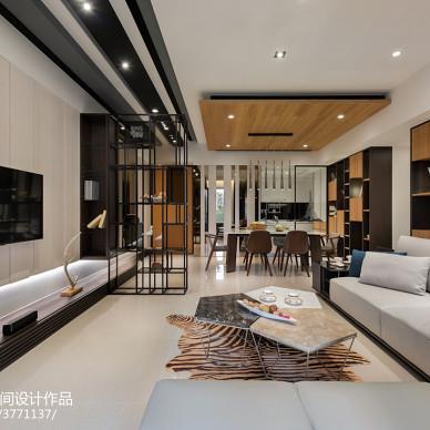休闲现代风格客厅效果图