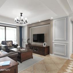 现代美式三居客厅装修