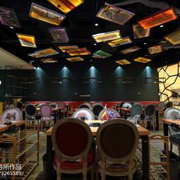 水晶焖锅店大厅设计