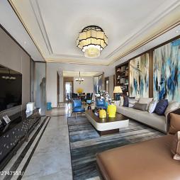 中式风格三居室客厅效果图