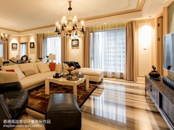 暖色系现代风格客厅装修
