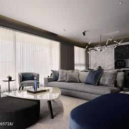 现代风格二居室客厅装修大全
