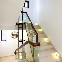 别墅现代风格楼梯效果图