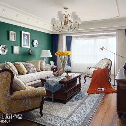 大气美式风格客厅图片