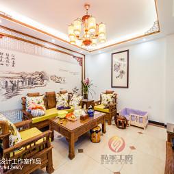 中式别墅客厅装修