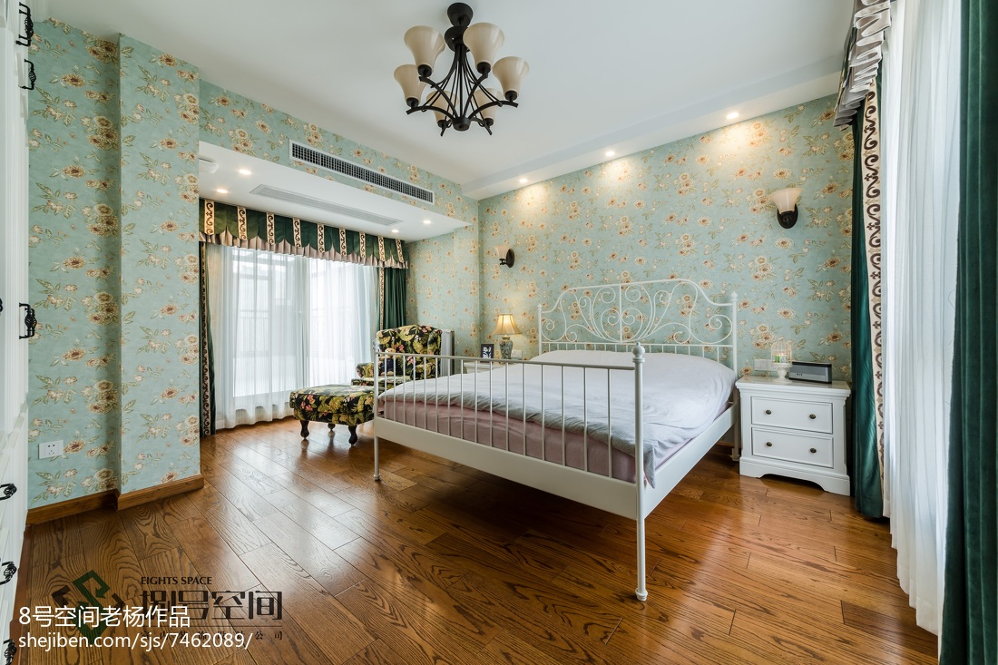 清爽地中海风格卧室效果图