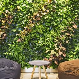办公室休闲区植物墙设计