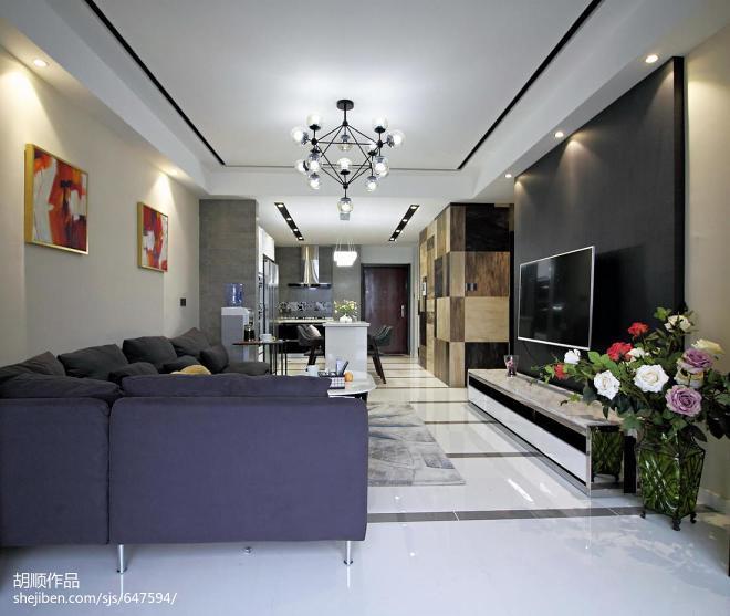 黑白调现代风格客厅效果图