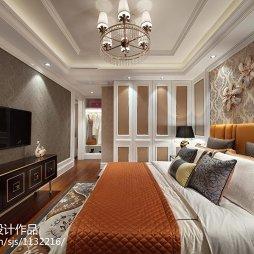 新古典风格样板房卧室装修