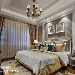 素雅新古典风格样板房卧室装修