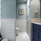 法式风格蓝色卫浴设计