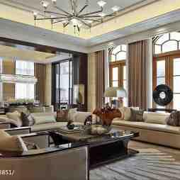 金色现代风客厅设计