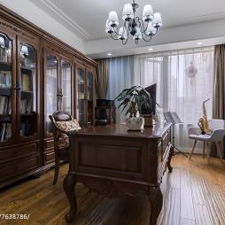 传统美式书房装修