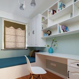 白色美式榻榻米书房装修