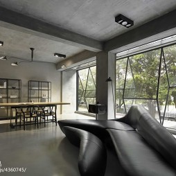办公空间沙发休息区装修