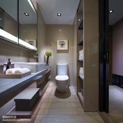 最新现代风格样板房卫浴装修