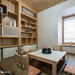 原木现代风榻榻米休闲区设计
