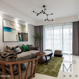 自然现代风格客厅装饰图