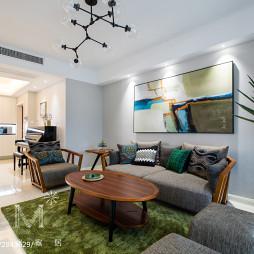现代风客厅沙发背景墙设计