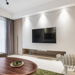 现代风格白色电视背景墙设计