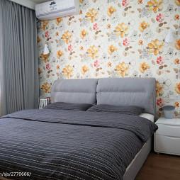 现代风格卧室壁纸背景墙设计