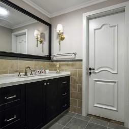 美式卫浴柜装修图