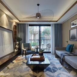 创意简约风格客厅装修图