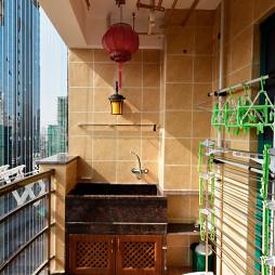 现代美式风格阳台效果图