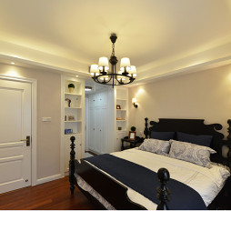 现代美式卧室布置