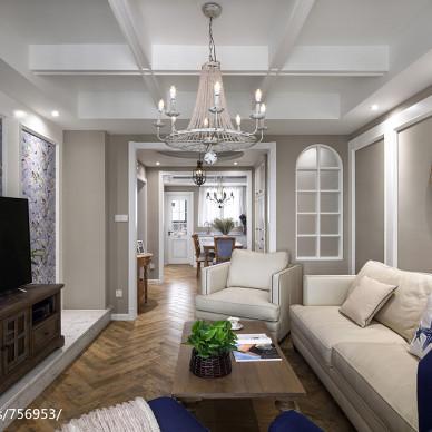 素色法式客厅设计