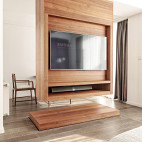 创意中式电视背景墙设计