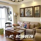 美式客厅布艺沙发装饰图