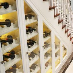 法式楼梯储物酒柜设计