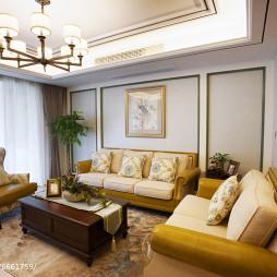美式客厅皮质沙发设计