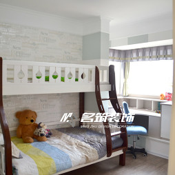 现代风格上下床儿童房设计