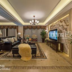 气质美式四居室客厅设计