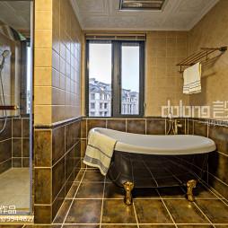 美式卫浴隔断墙装修