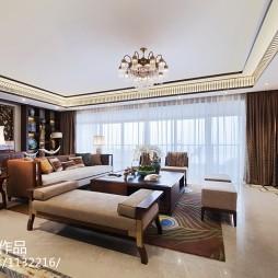 样板房东南亚风格客厅设计