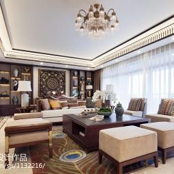 古雅东南亚风格客厅吊顶设计