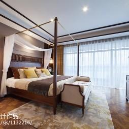 暖黄色东南亚风格卧室装修