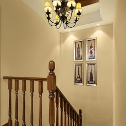 美式风格实用楼梯扶手设计