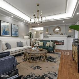 美式三居室客厅效果图