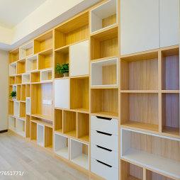 现代风格卧室置物架设计