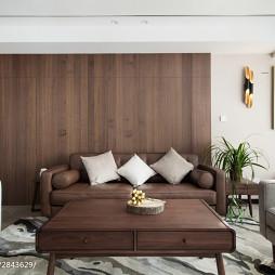 现代风格客厅木质沙发背景墙设计