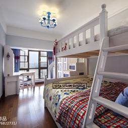 混搭风格儿童房上下床效果图