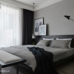 暗黑现代风格卧室布置