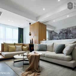 悠闲日式沙发背景墙装修
