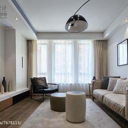 灰色系简约风格客厅设计